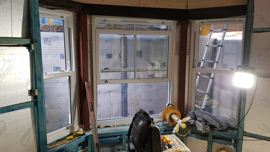 New bespoke sash windows installed