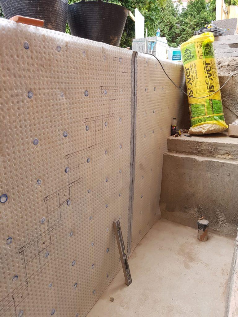 Waterproofing in new stairwell