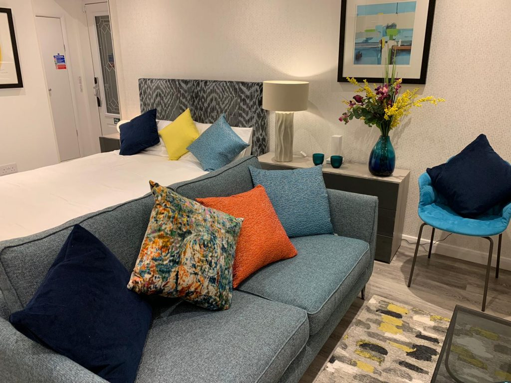 Studio apartment with living area