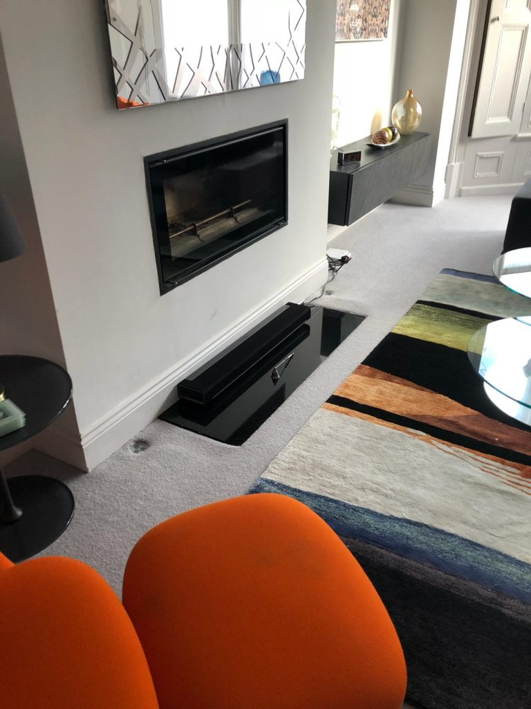 New fireplace on ground floor above