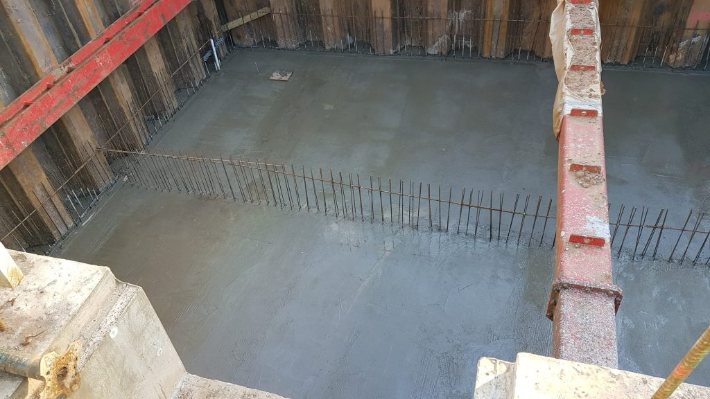 Main basement slab concreted