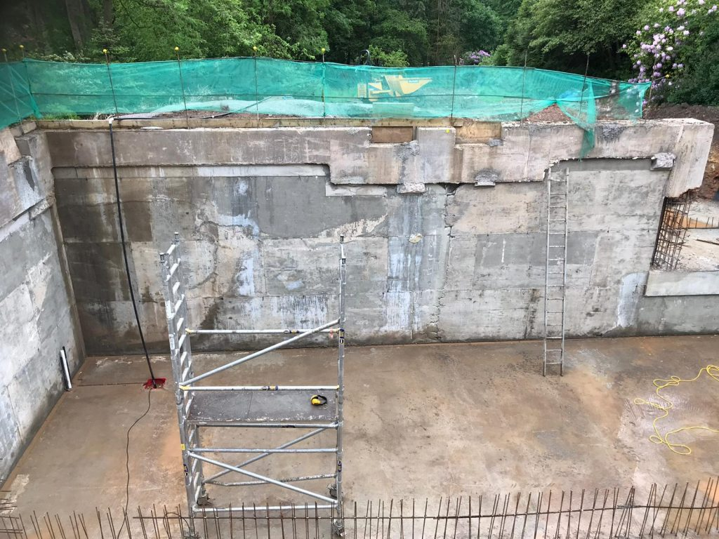 Concrete external walls