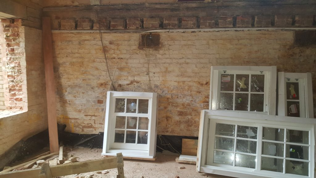 Old ground floor timber joists removed