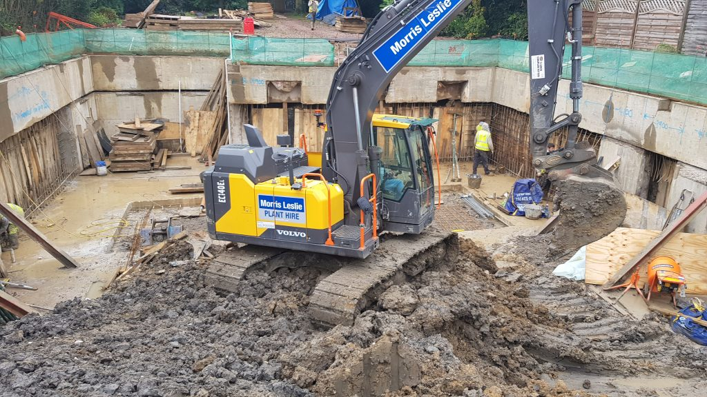 Excavation during underpinning