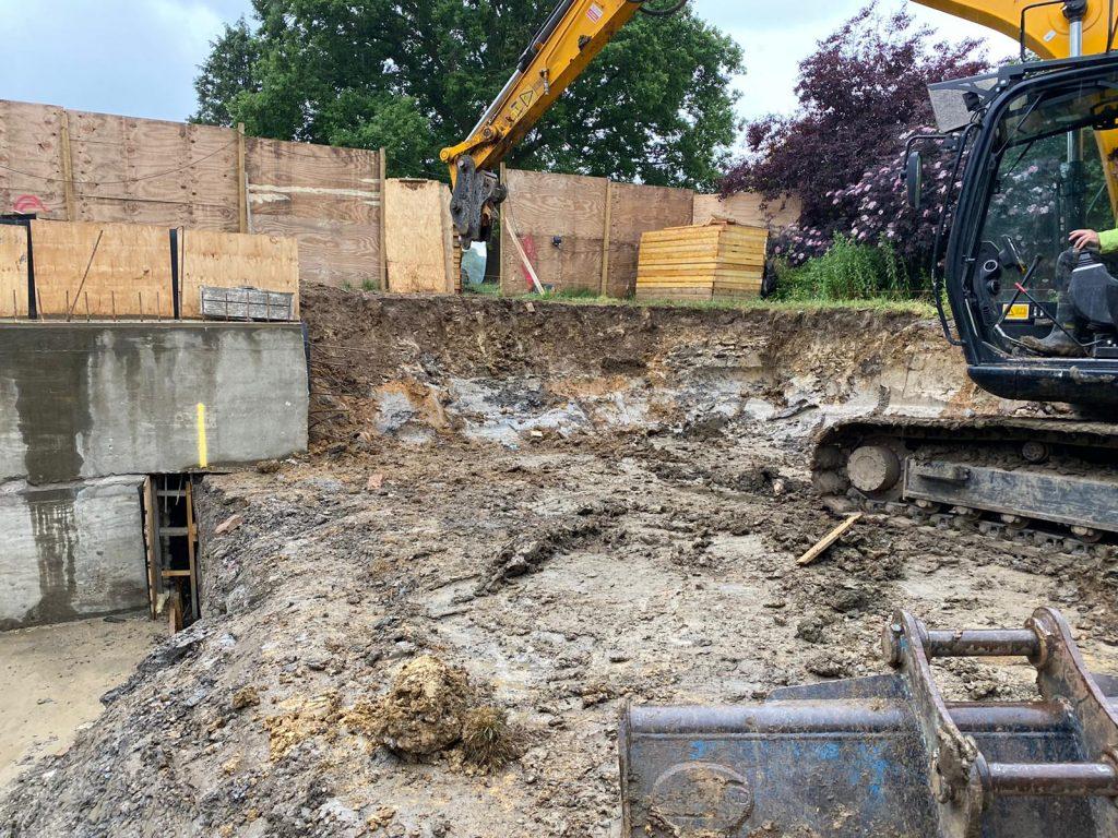Basement excavated