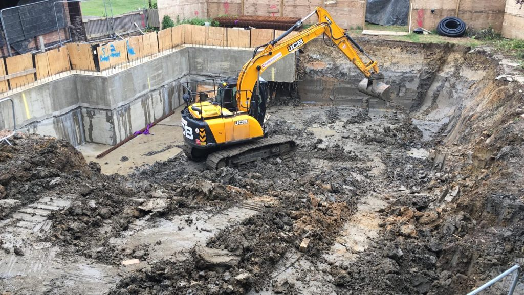 Traditional open excavation build