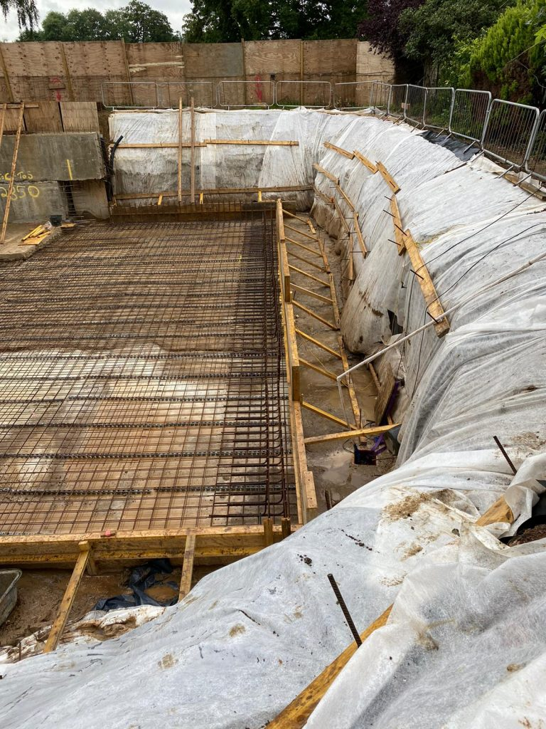 Traditional build slab laid out