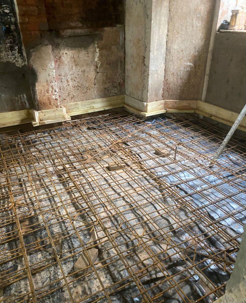 Reinforcing for concrete floor