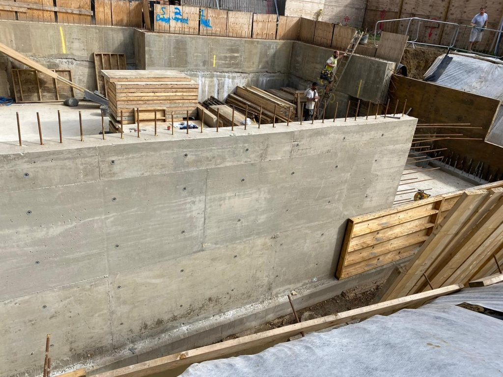 First section of walls cast