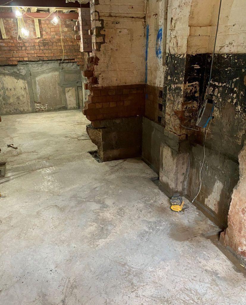 Concrete floor cast