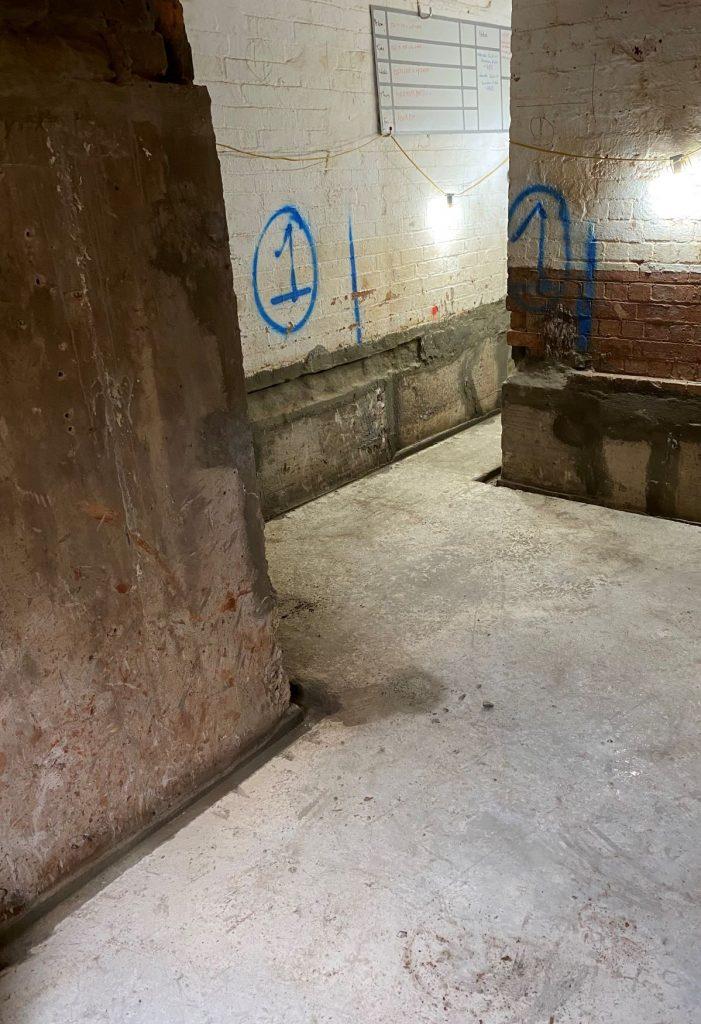 Concrete floor cast throughout