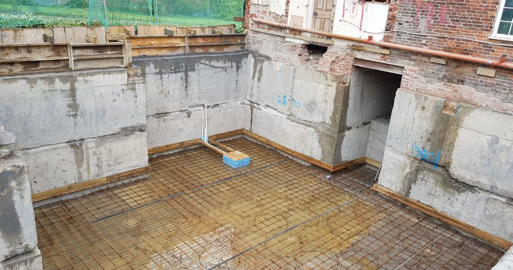 Sump & pumping chamber installed