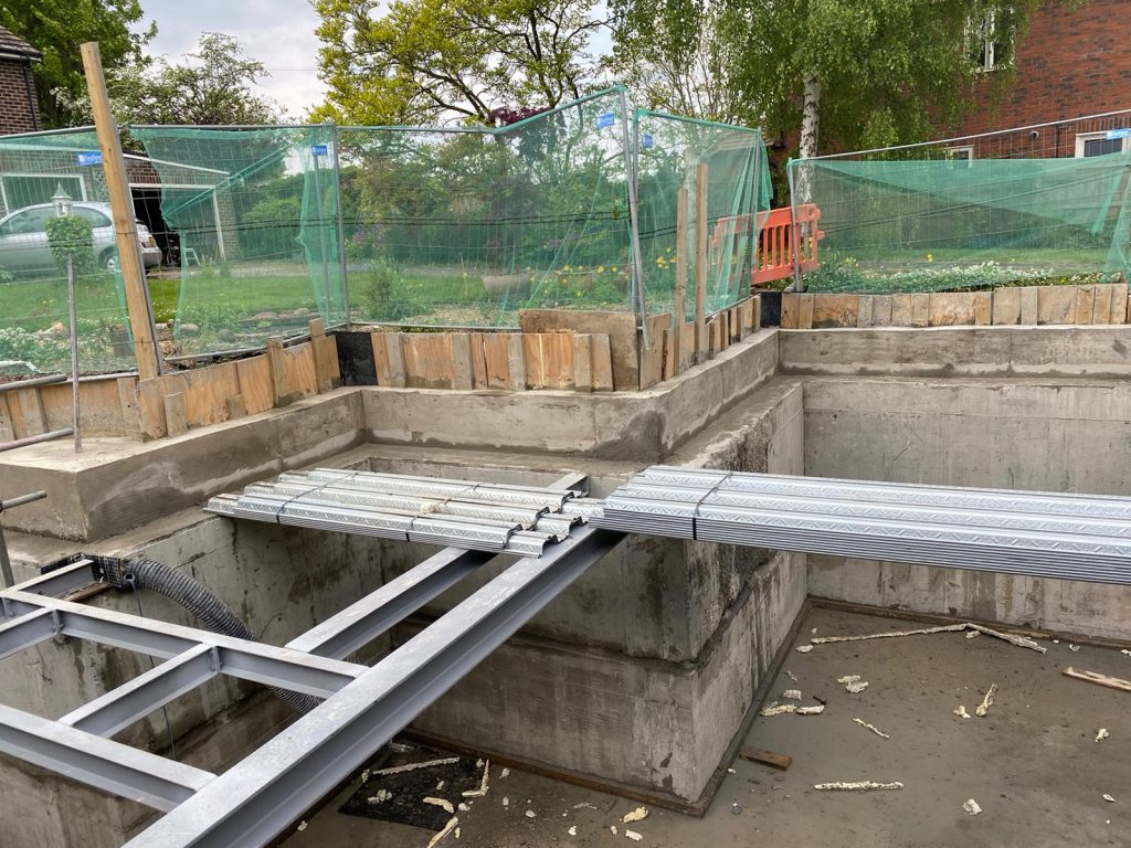 Steel work for deck