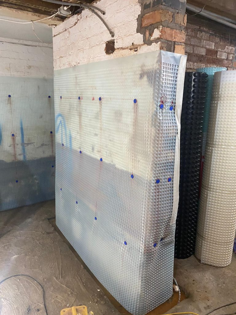 All walls have Cavity drainage membrane installed