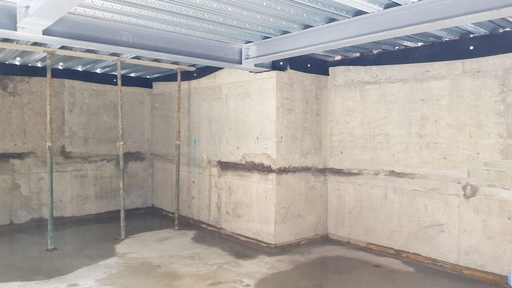 Deck viewed from basement