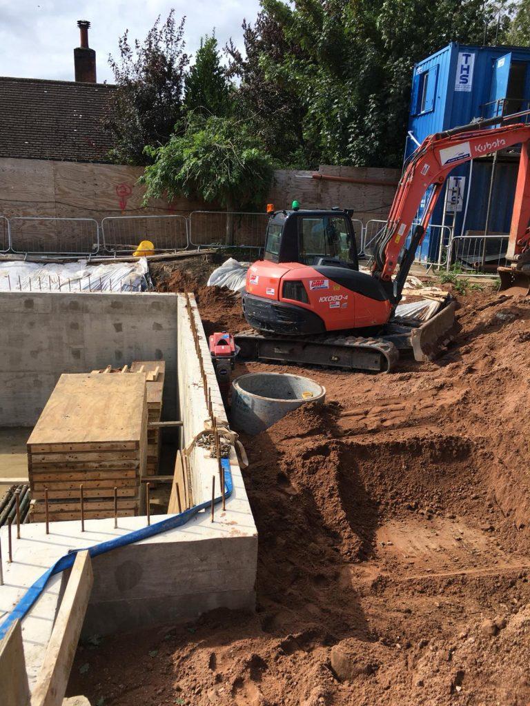 Basement excavation back filled