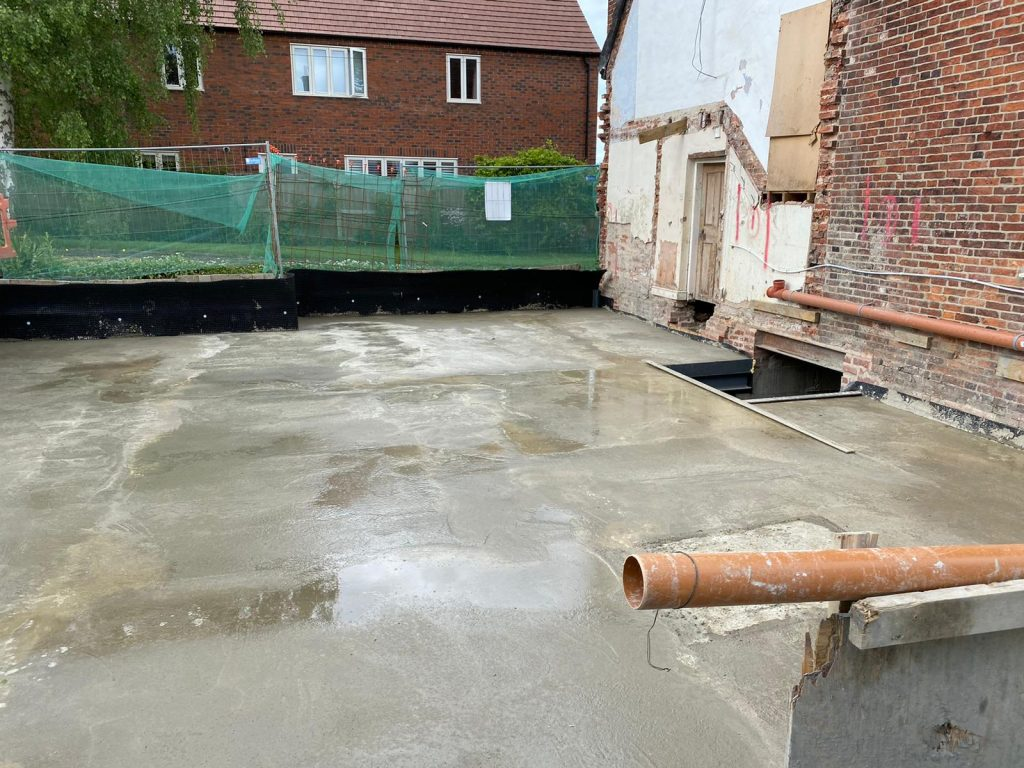 Deck concreted