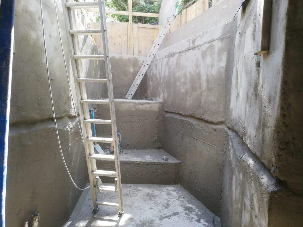 Basement internal waterproofing