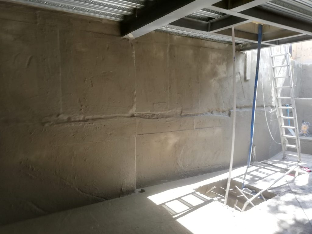 Waterproofing Type A Barrier system installed