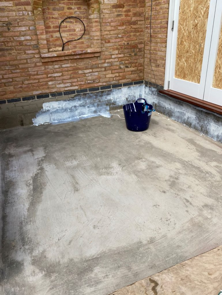 First layer of barrier waterproofing system